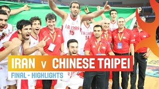 Iran v Chinese Taipei - Highlights Final - 2014 FIBA Asia Cup