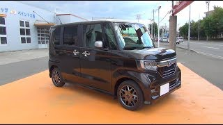 2017/2018 New HONDA N-BOX Custom Turbo Honda SENSING 4WD - Exterior & Interiror