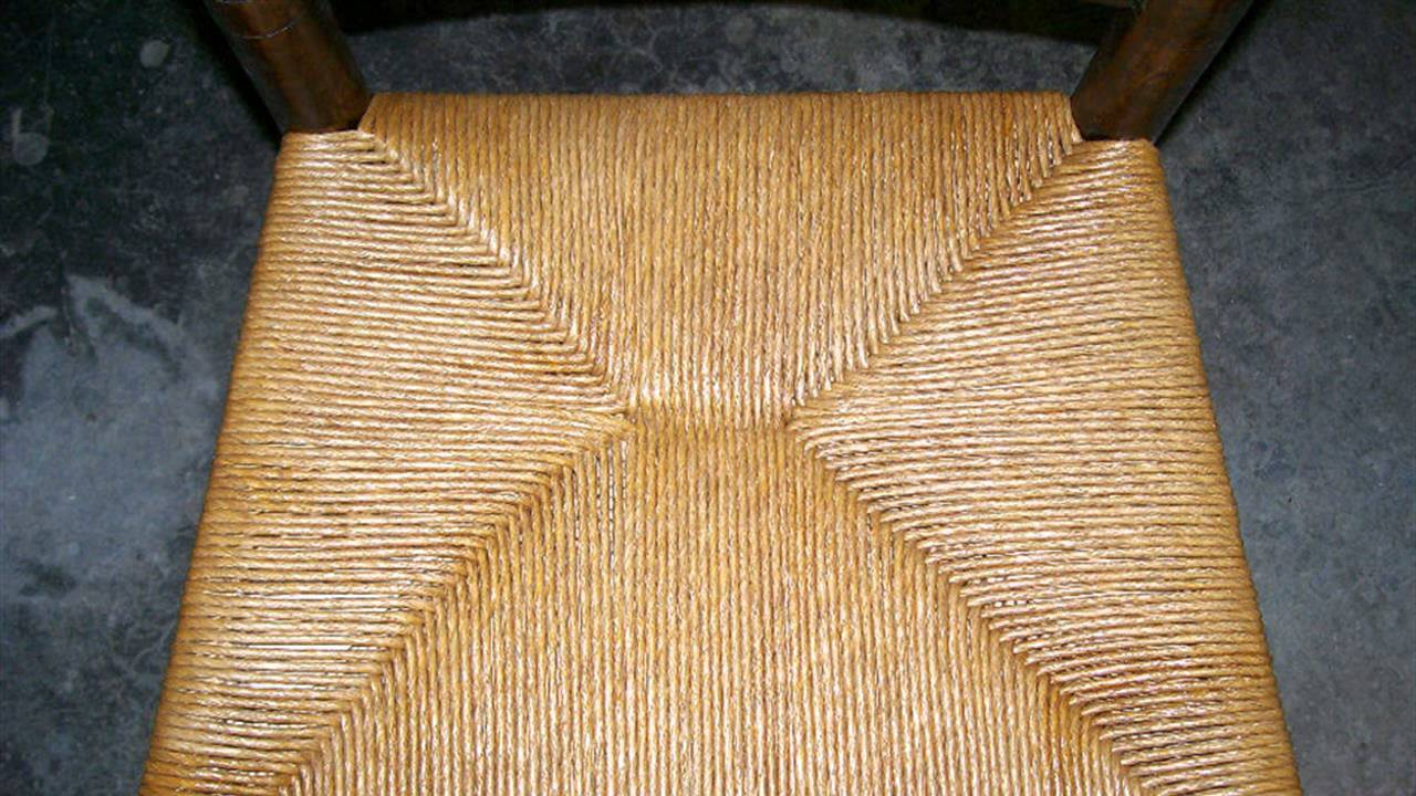 How To Refinish Weaving Rush Pattern Chair Seats Youtube