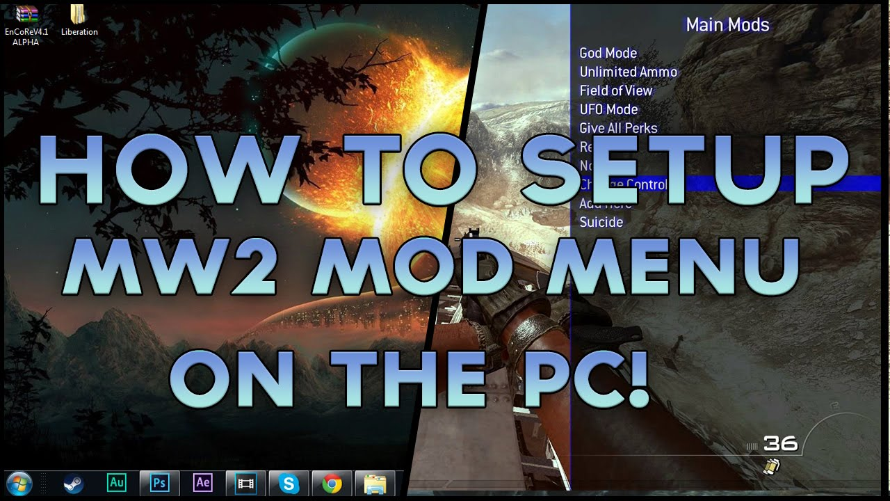 Mw2 Pc How To Setup Mod Menus On Mw2 On Pc Without Being Vac Banned 2015 Youtube