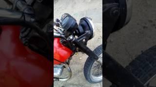 Карбюратор от скутера на мотоцикле Минск. Карбюратор CVK 4т.
