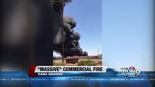 Crews battling massive commercial fire in Casa Grande