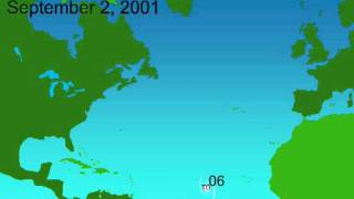 2001 Atlantic Hurricane Season Animation