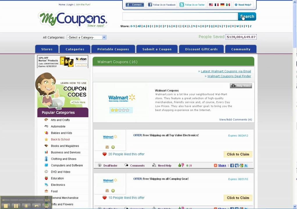How To Use Walmart Coupon Codes Youtube