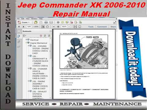 2006 JEEP COMMANDER SERVICE MANUAL PDF