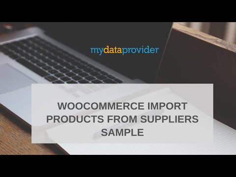 WooCommerce Import products from suppliers sample