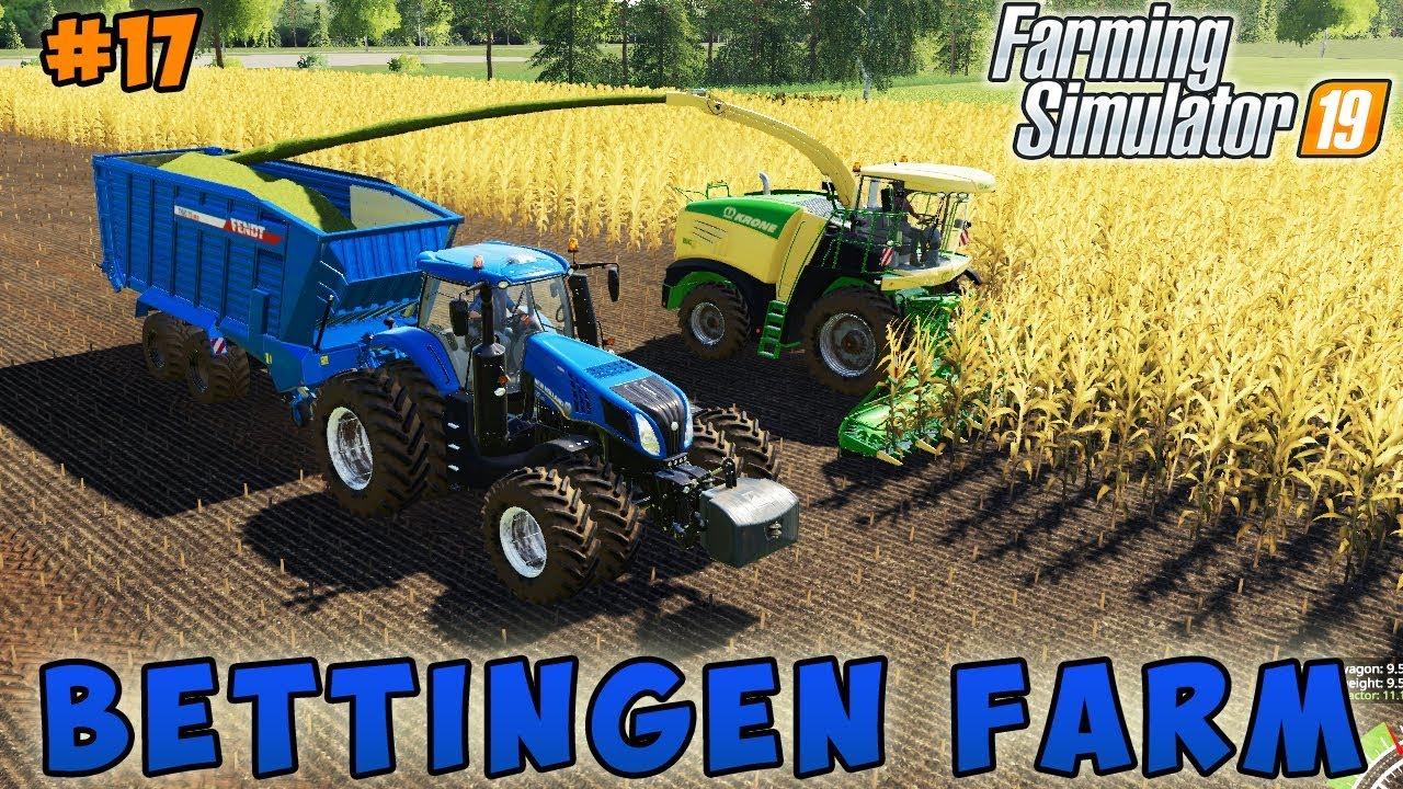 Farming simulator 19 | Bettingen Farm | Timelapse #17 | Chopping corn silage