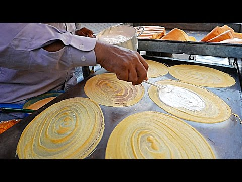 Cambodian Street Food - GIANT COCONUT PANCAKES Phnom Penh Cambodia
