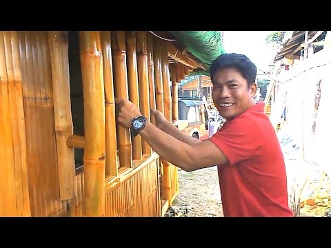 Bamboo Security Bars On A Bahay Kubo- Cris Bamboo Philippines