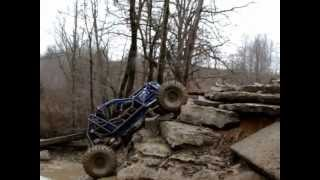 CSC Fab owner Labronn in his Outlaw buggy on the left side of The Ledge at WITC