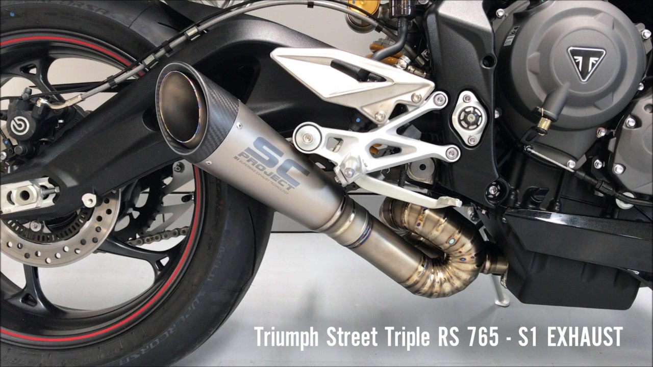 triumph street triple rs 765 sc project s1 exhaust youtube