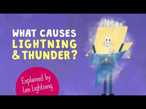⛈ What causes thunderstorms? ⛈ Explained for kids by Leo Lightning