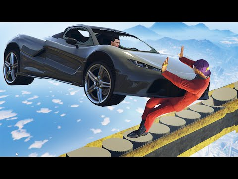 DON'T GET HIT OFF THE TIGHTROPE CHALLENGE! (GTA 5 Funny Moments)