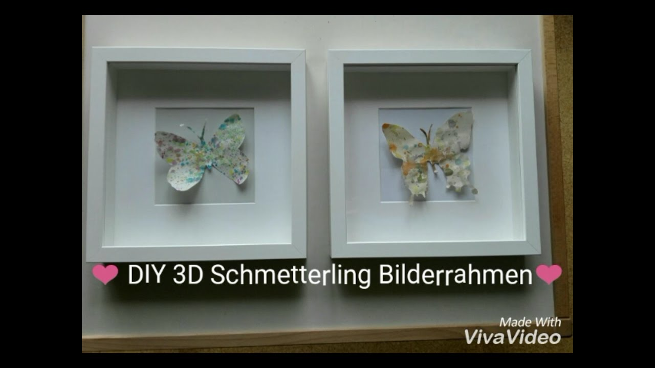 DIY 3D Schmetterling Bilderrahmen I Holly & Polly - YouTube