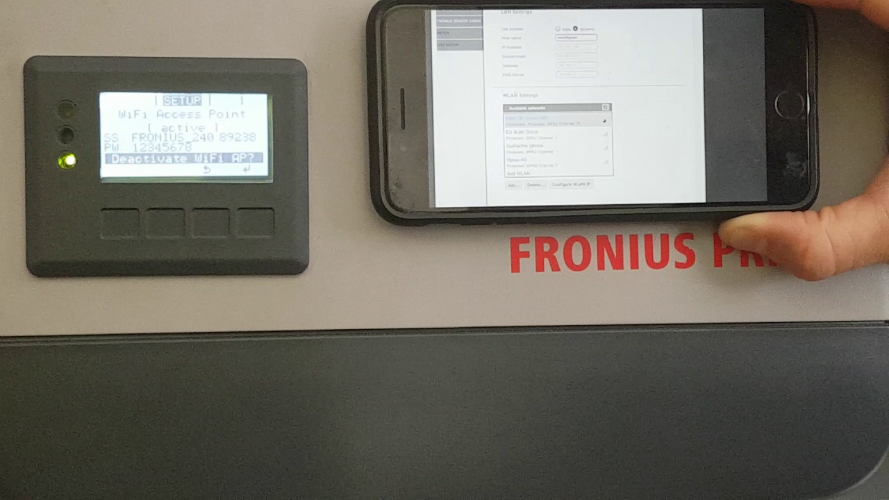 Connecting your Fronius Inverter to Wi-Fi Video 2