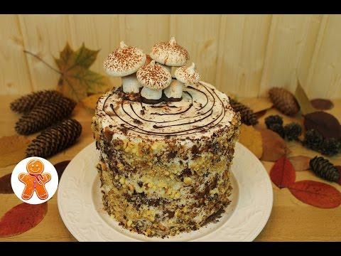 Сметанный торт Трухлявый пень