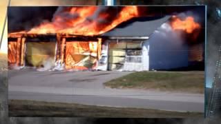 Пожар в частном доме, Кинчело, штат Мичиган, США