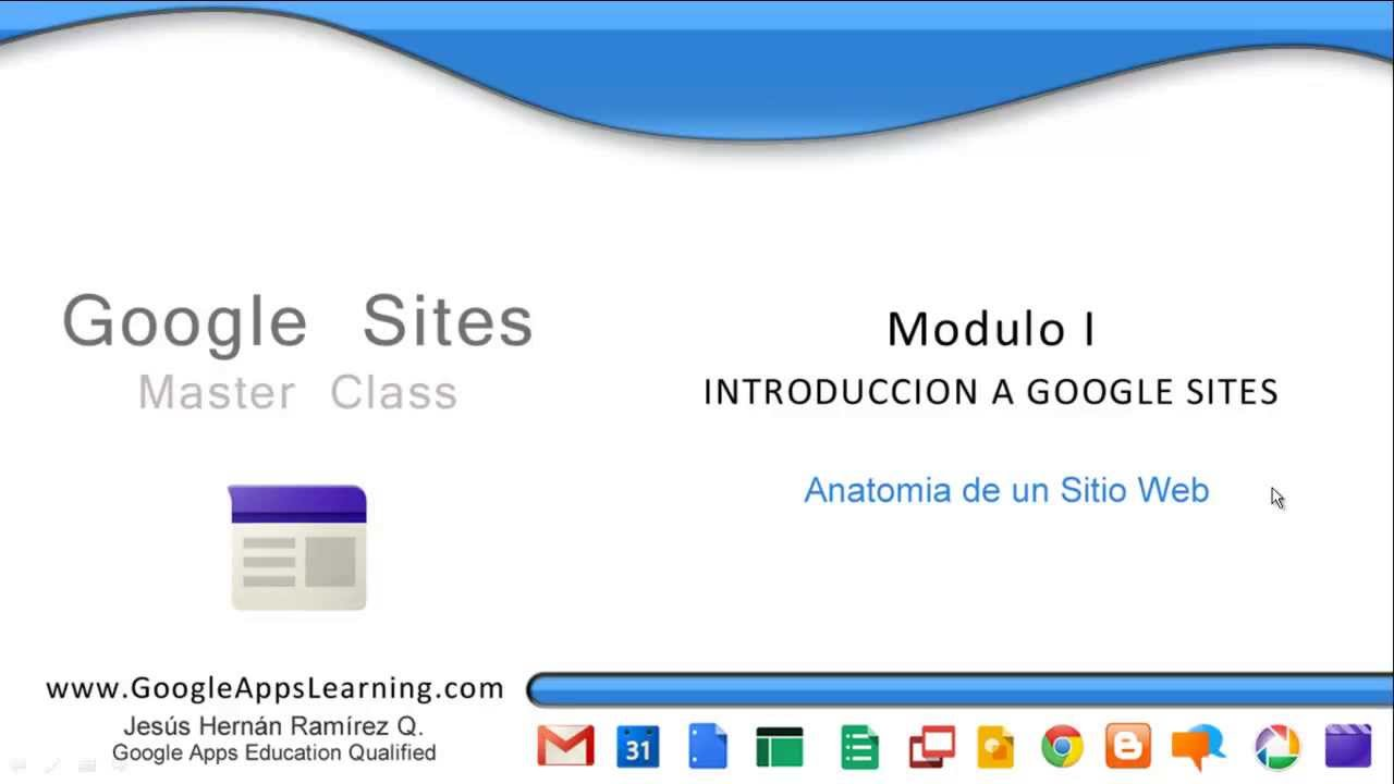 Anatomia de un sitio web (Google sites en español) - YouTube