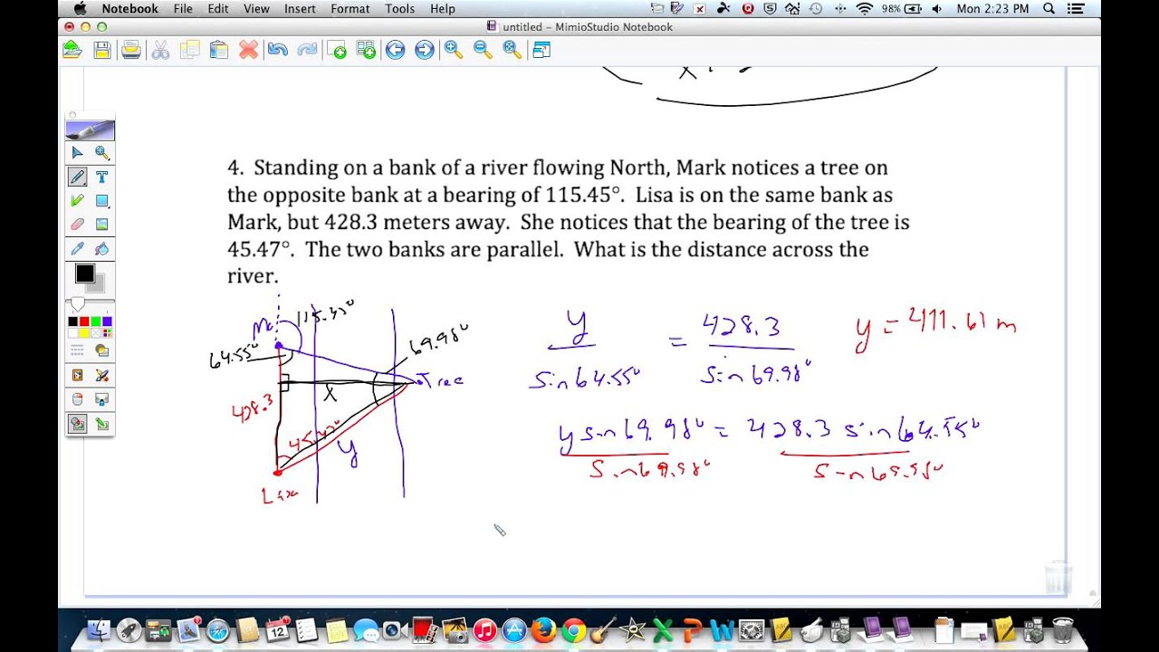 Worksheets Law Of Sines Worksheet law of sines and cosines word problems youtube problems