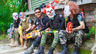 NERF WAR : Special Police SWAT Warriors Nerf Guns Fight Bandits Mask Dangerous Weapons