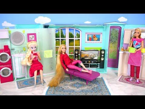 New Barbie doll My House Unboxing & Review Rumah boneka Barbie Casa de boneca Barbie