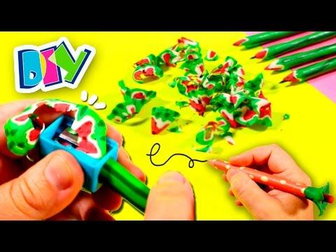 DIY Watermelon Pencils * Back to SCHOOL SUPPLIES