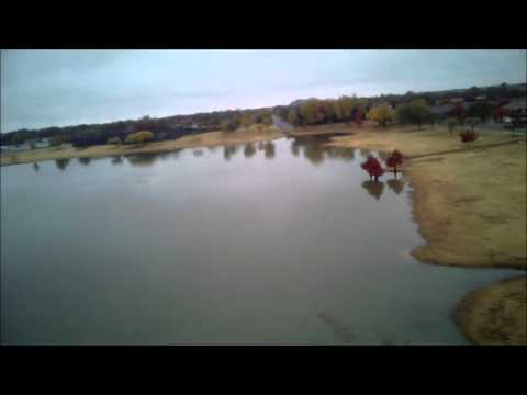 Drone over Leftwich Park, Lubbock, TX