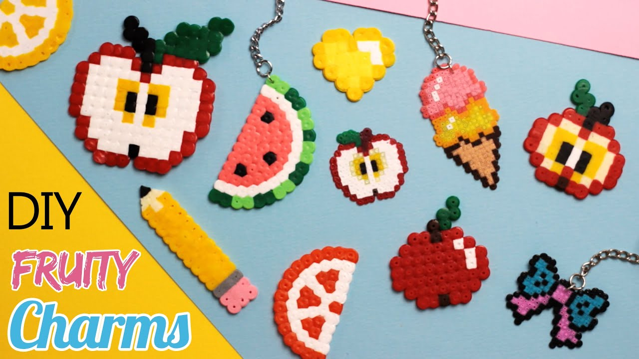 Diy Fruity Back To School Perler Bead Charms Part 2 Youtube