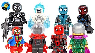 Spider-Man Agent Venom Classic Mysterio Ghost Spider Unofficial LEGO Minifigures