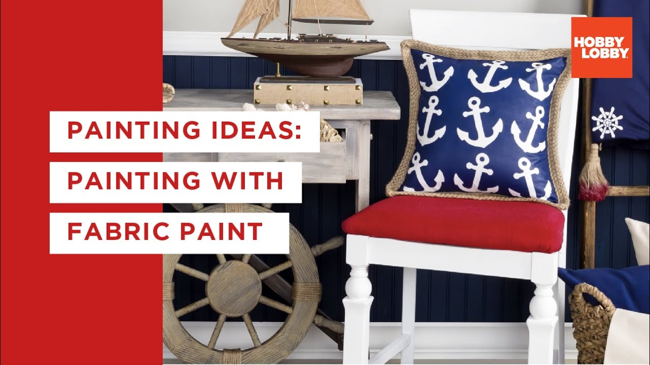 Painting Ideas: Painting with Fabric Paint | Hobby Lobby® - YouTube