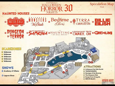 Orlando Halloween Horror Nights 2020 Leaked A Leaked Map for Halloween Horror Nights 30?!   YouTube