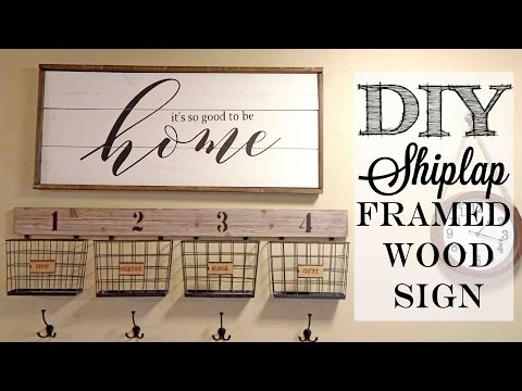 DIY Shiplap Framed Wood Sign | Piecing together stencils