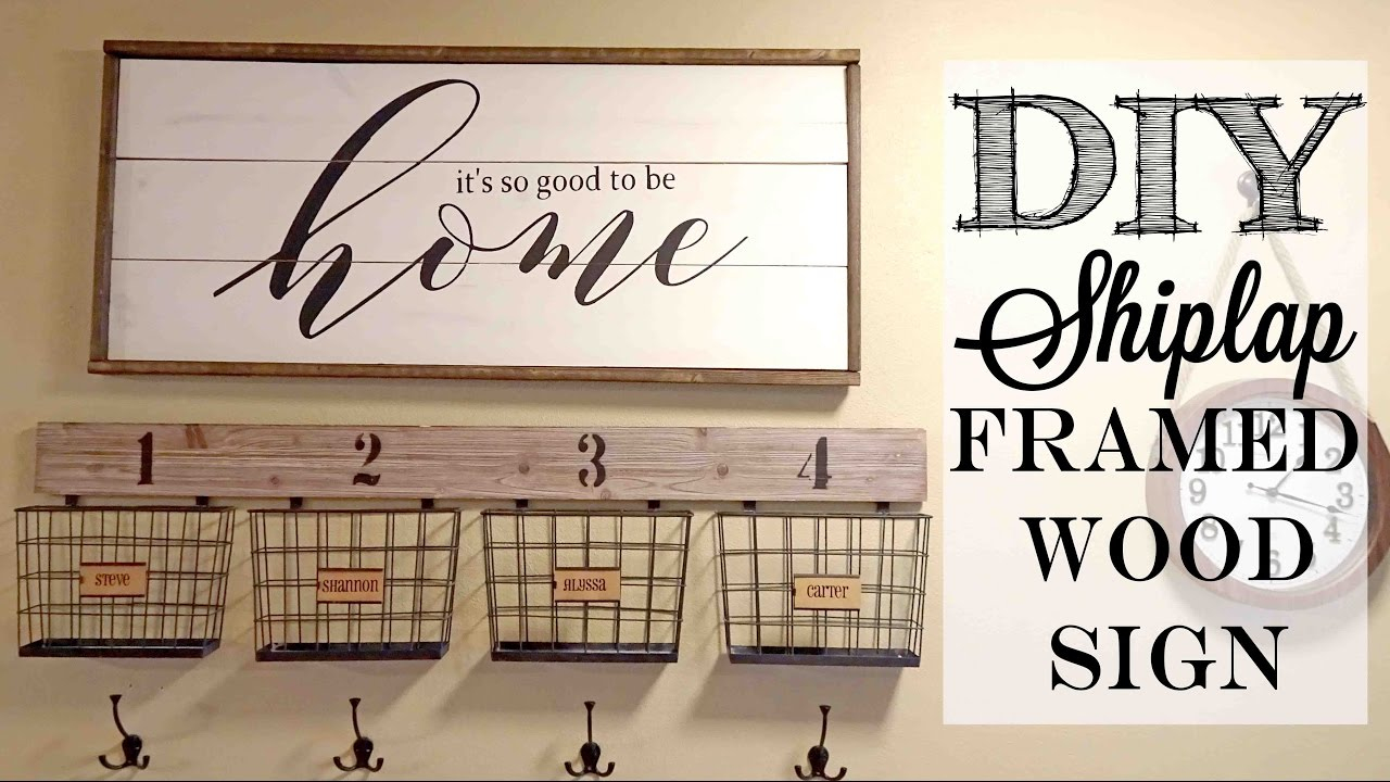 diy shiplap framed wood sign piecing together stencils. Black Bedroom Furniture Sets. Home Design Ideas