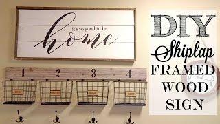 DIY Shiplap Framed Wood Sign | Piecing together stencils