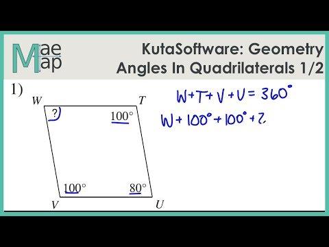 KutaSoftware: Geometry- Angles In Quadrilaterals Part 1