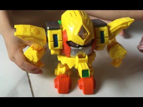 Robot trái cây dứa cách tháo lắp và sử dụng - SauBom Toys Review