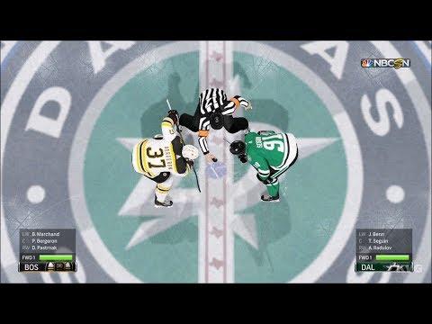 NHL 18 - Dallas Stars vs Boston Bruins - Gameplay (HD) [1080p60FPS]