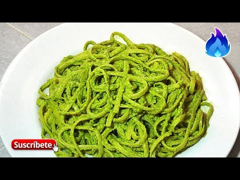 Espagueti Verde Con Chile Poblano   Receta Fácil    Qué Sabroso