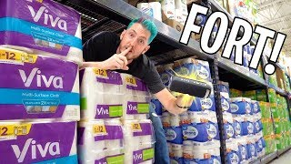 HIDDEN SPEAKER TOILET PAPER FORT!