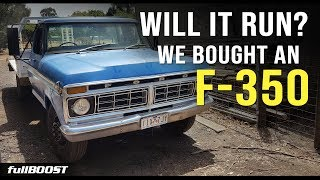 BACKYARD MECHANICS | Will it run after sitting for years? Ford F-350 | Project Build EP 1