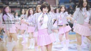 160110 프로농구 올스타전 프로듀스101 (produce 101) Pick me 주결경 직캠 by 경호