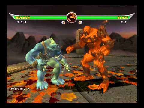 Mortal kombat Armageddon - Moloch VS Motaro and Blaze ...