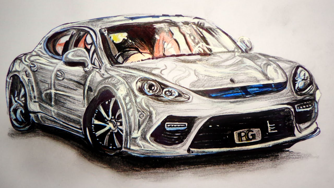 It is a photo of Critical Drawing On Car