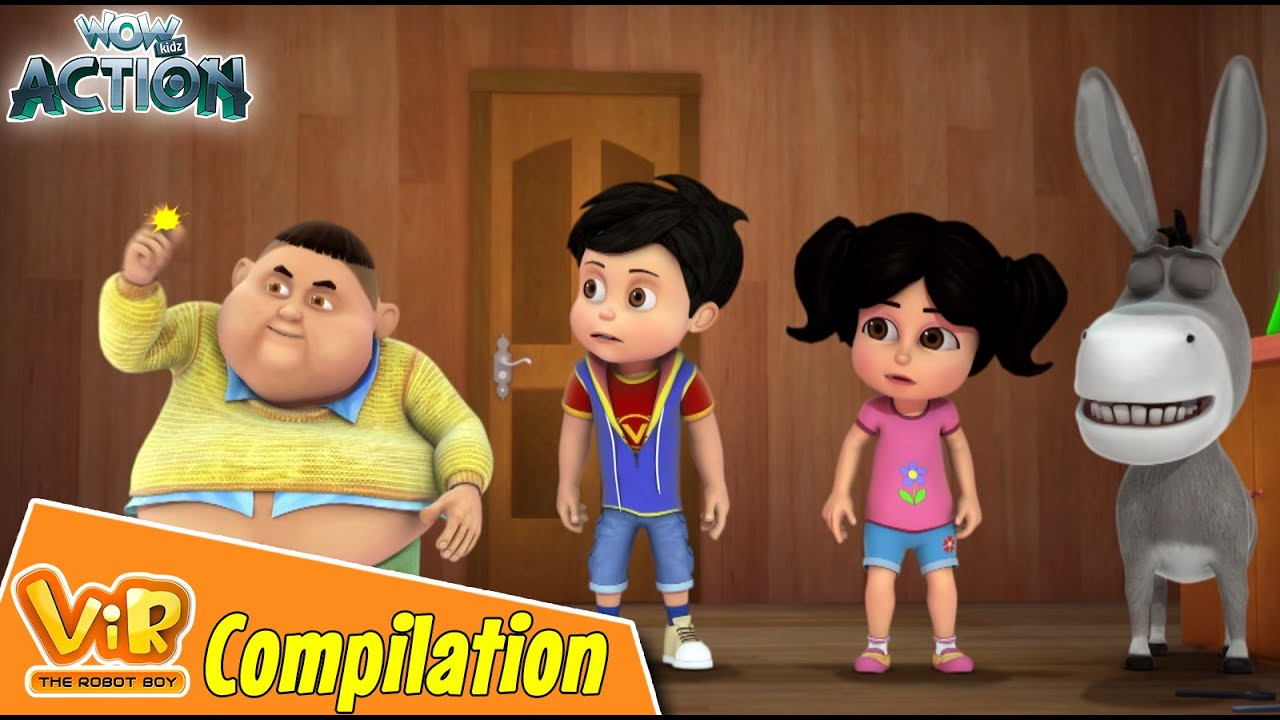 Best Episodes Of Vir The Robot Boy | Cartoon For Kids | Compilation 69 | Wow Kidz Action