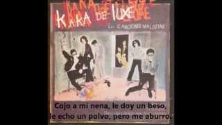 KAKA DE LUXE - Pero me aburro (letra)