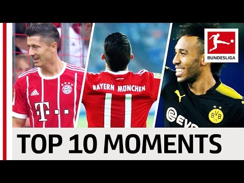 James' First Bundesliga Goal, Aubameyang and Lewandowski on Fire - Top 10 Moments - September 2017