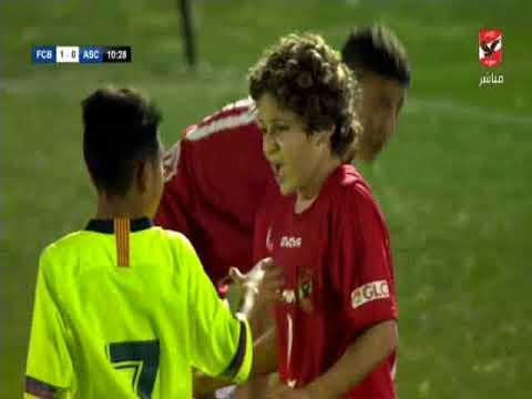 مباراة الاهلى امام برشلونة - بطولة دبى الدولية