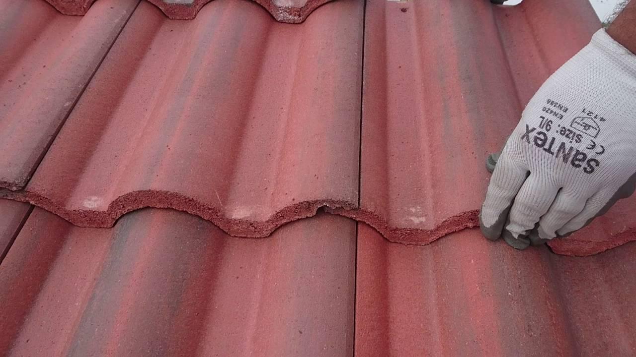 Tejado en le n de teja hormigon youtube - Clases de tejas para tejados ...