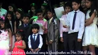 Grandchildrens dedicated song to grandmother on her 70th birthday