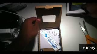 Intel X 25-M 80GB Sata SSD Unboxing